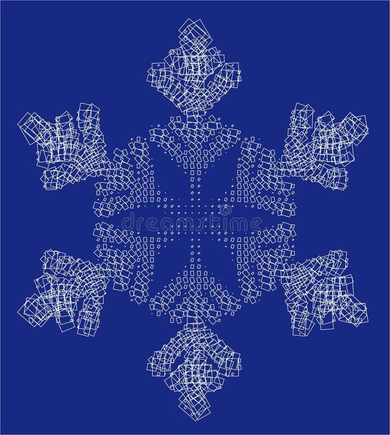 квадраты снежка хлопь стоковая фотография