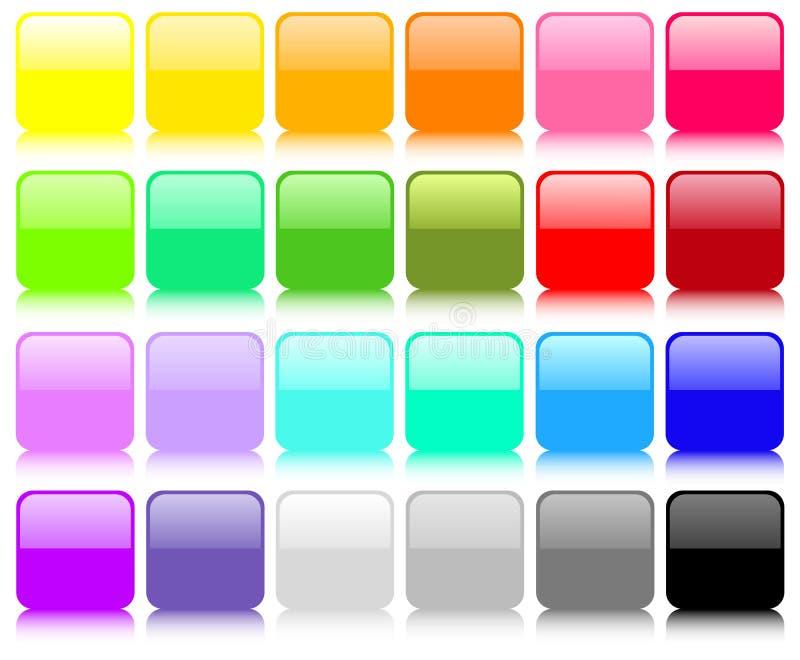 квадрат больших кнопок установленный бесплатная иллюстрация