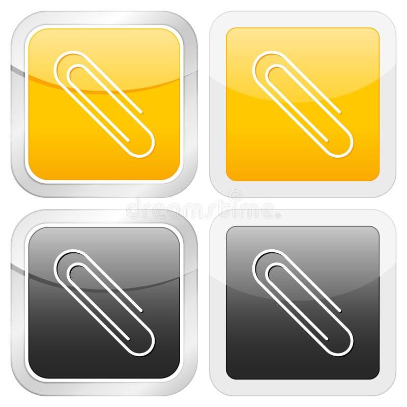 квадрат бумаги иконы зажима бесплатная иллюстрация