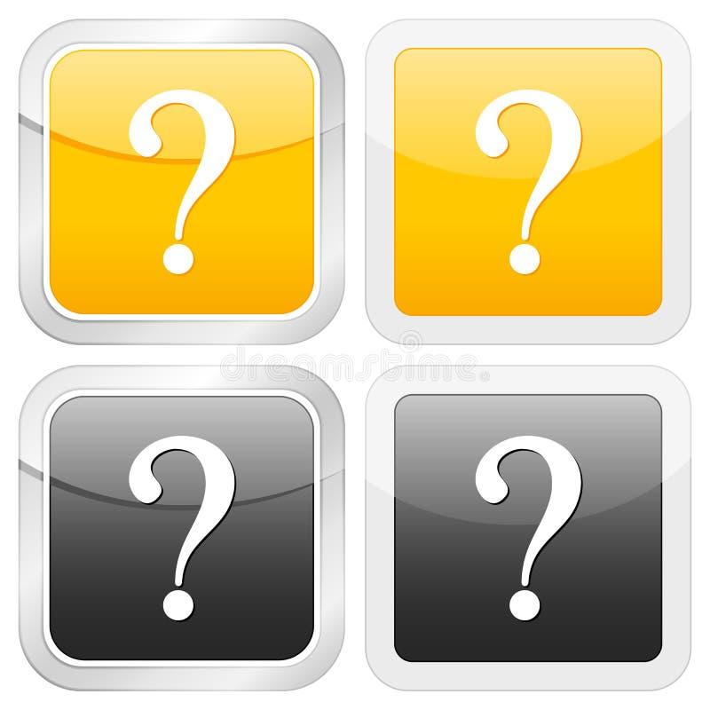 квадрат вопросе о иконы иллюстрация вектора