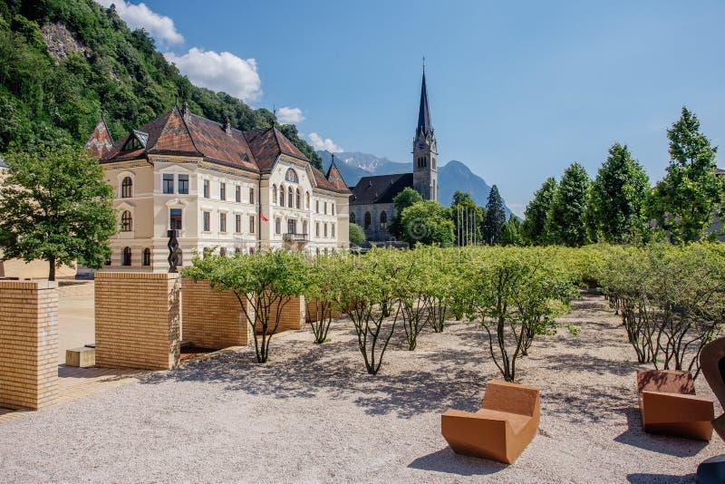 Квадрат в Вадуц, Лихтенштейне стоковое фото