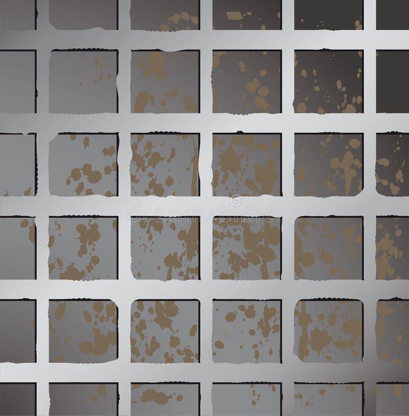 квадрат загородки предпосылки металлический бесплатная иллюстрация