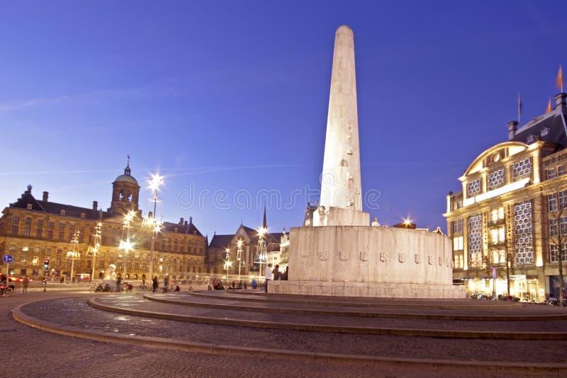 Квадрат запруды в Амстердам Nethe стоковое фото