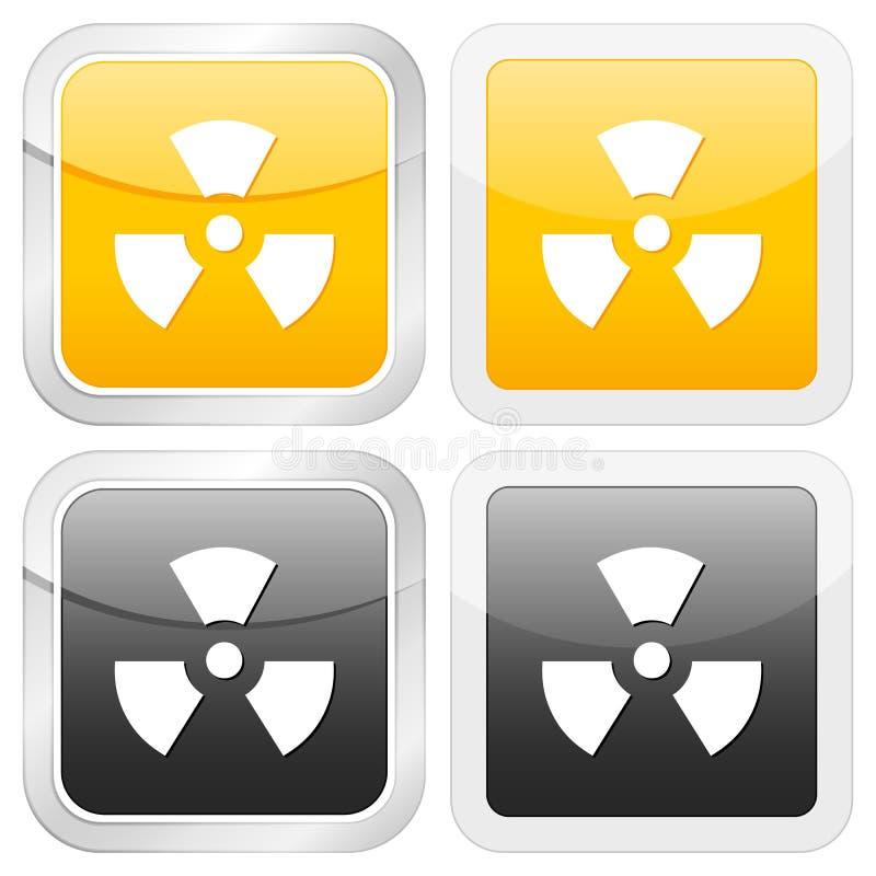 квадрат знака радиации иконы бесплатная иллюстрация
