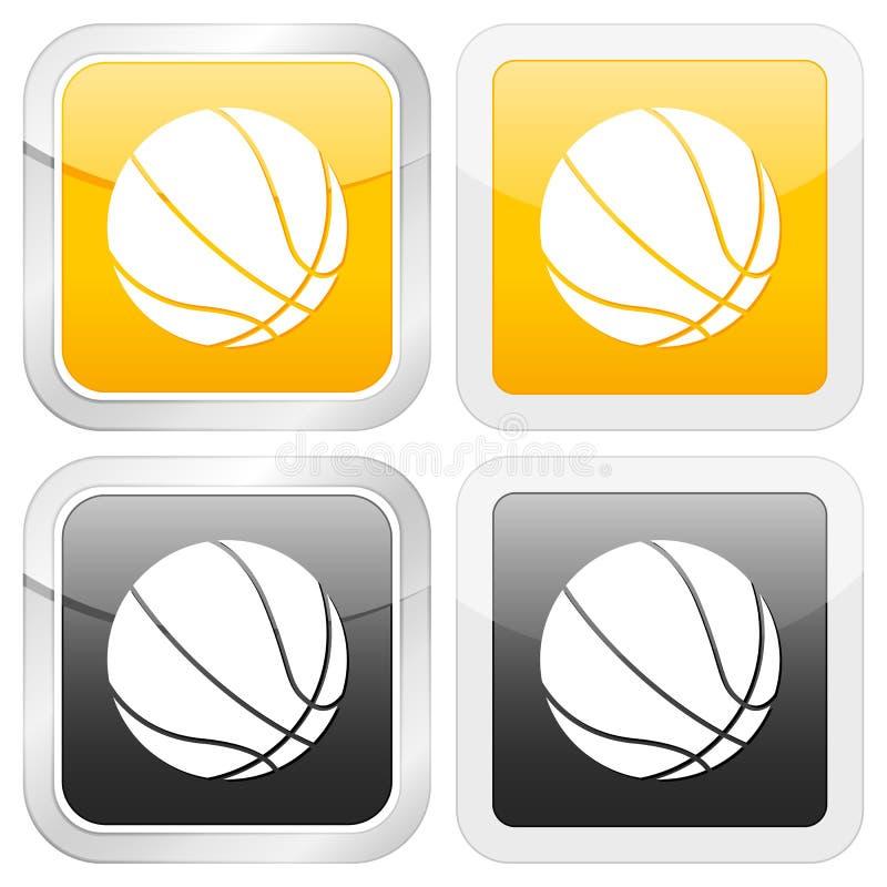 квадрат иконы баскетбола бесплатная иллюстрация
