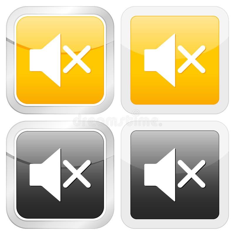 квадрат иконы безгласный иллюстрация вектора