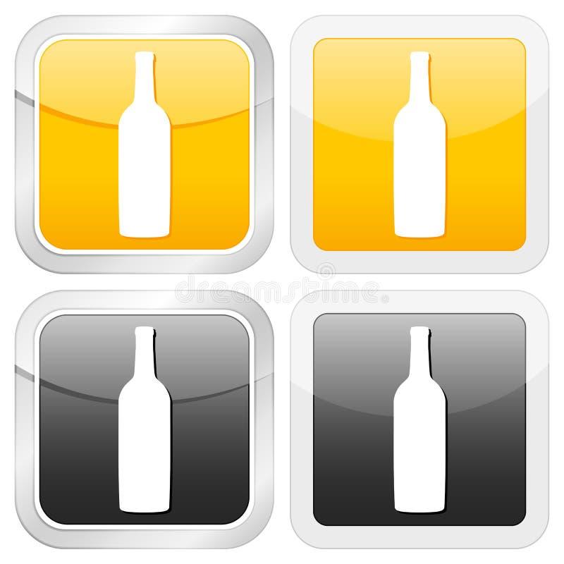 квадрат иконы бутылки бесплатная иллюстрация