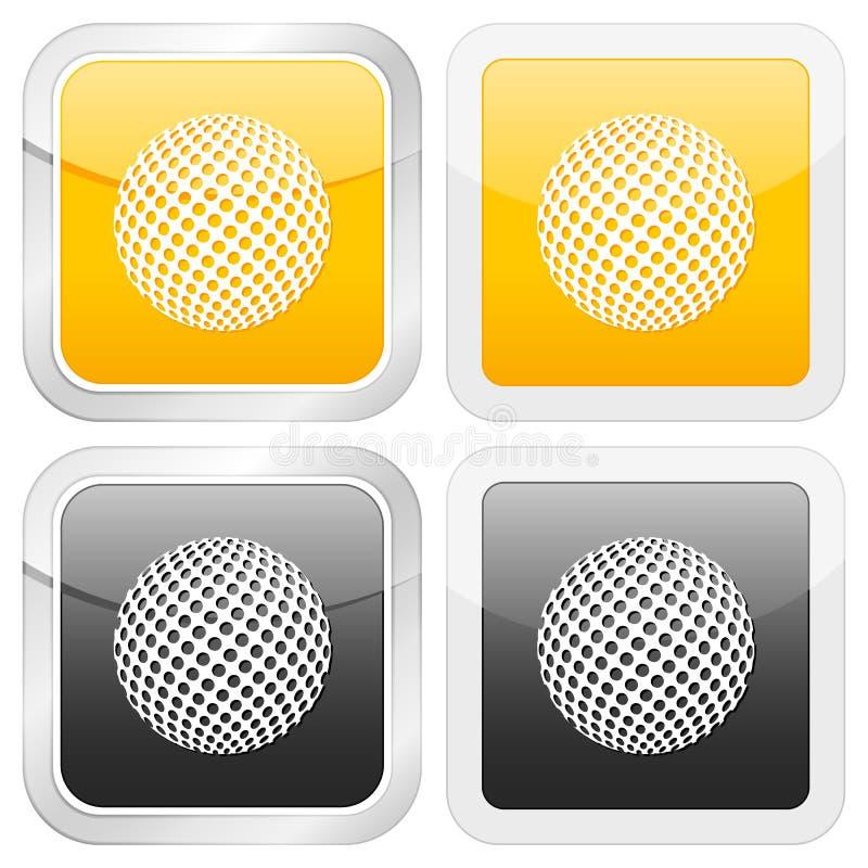 квадрат иконы гольфа бесплатная иллюстрация