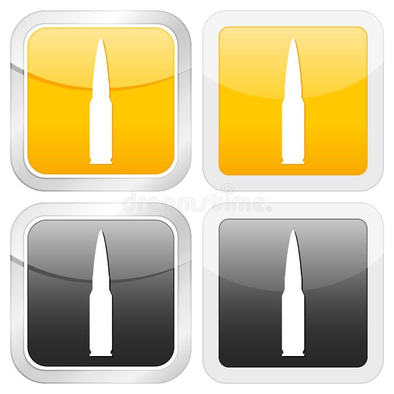 квадрат иконы пули бесплатная иллюстрация