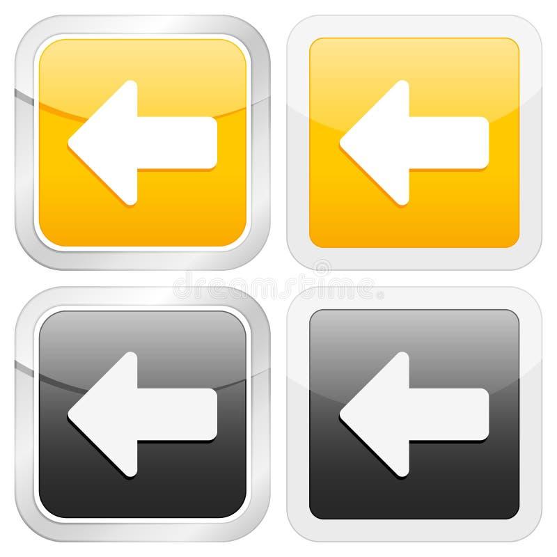 квадрат иконы стрелки левый бесплатная иллюстрация