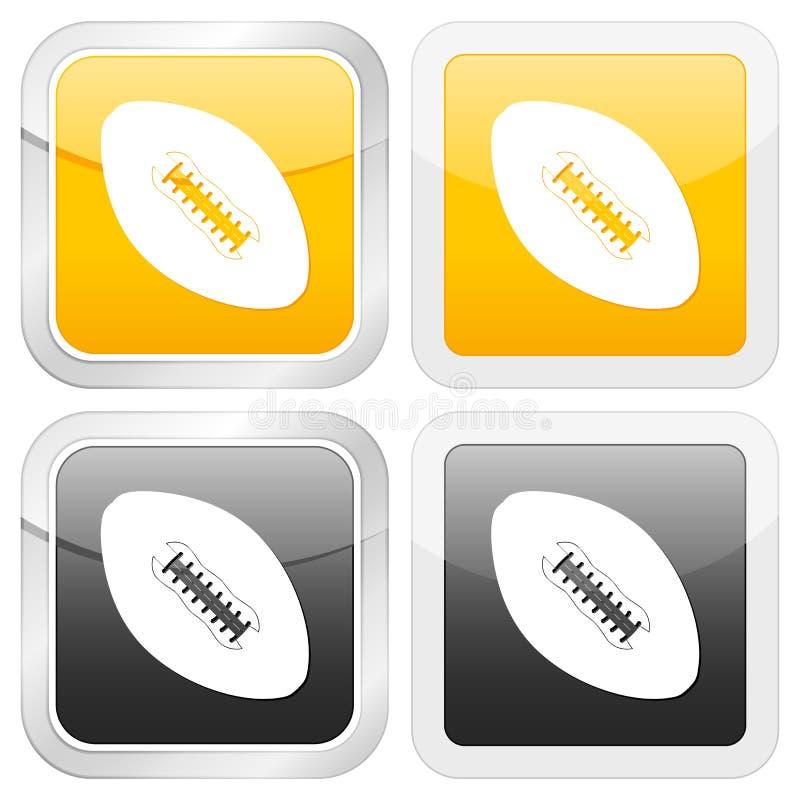 квадрат иконы футбола иллюстрация вектора