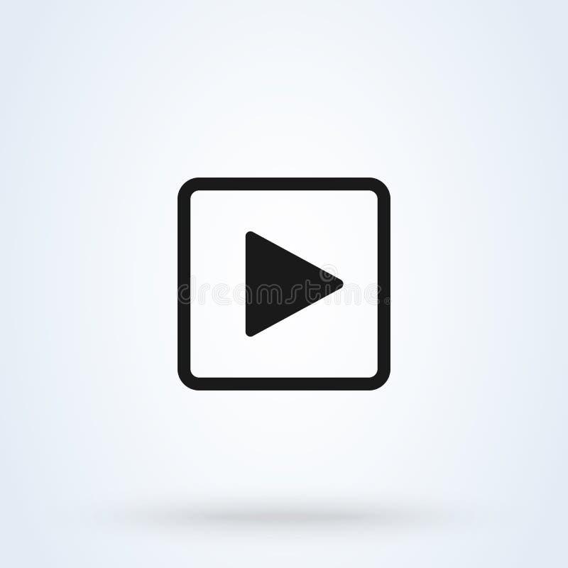 Квадрат кнопки игры r Значок иллюстрации вектора изолированный на белой предпосылке иллюстрация штока