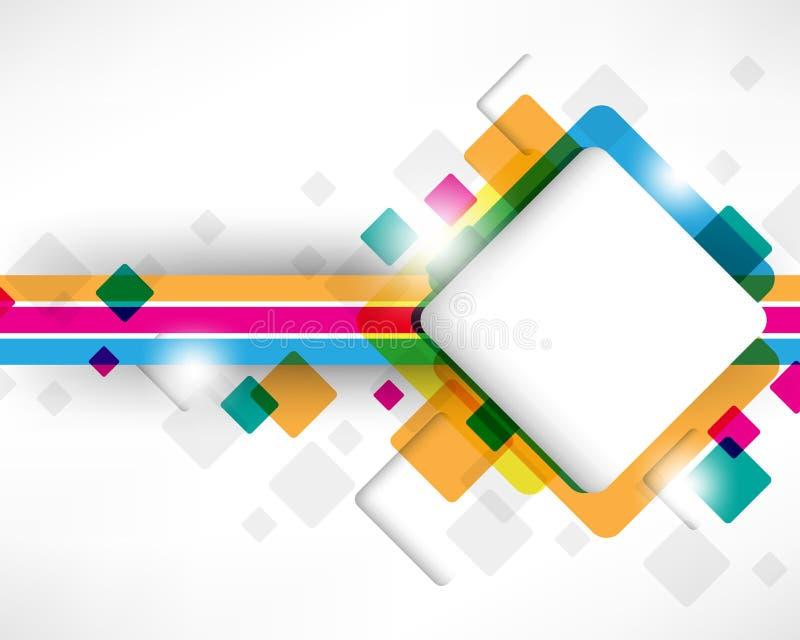 квадрат конструкции коробки multicolor иллюстрация штока