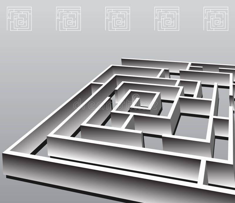 квадрат лабиринта бесплатная иллюстрация