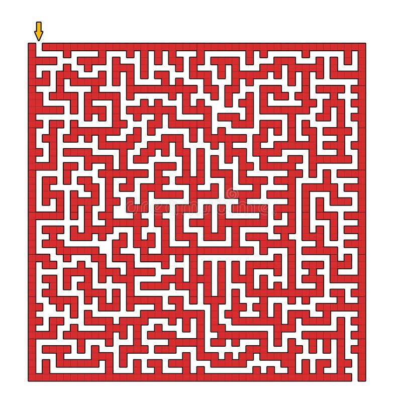 квадрат лабиринта иллюстрация вектора