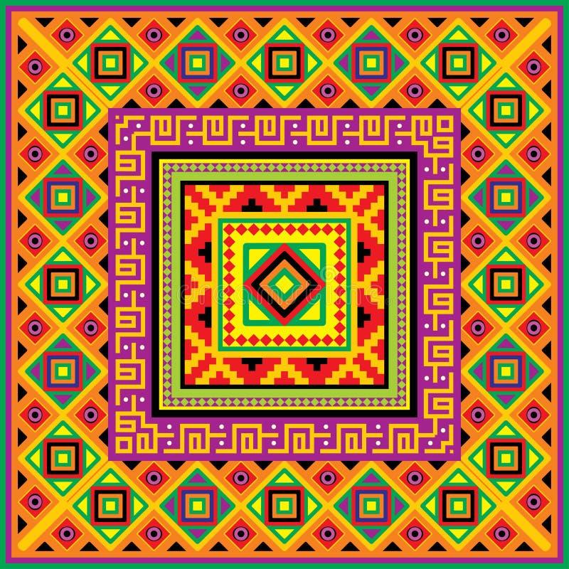 квадрат мексиканца предпосылки иллюстрация вектора