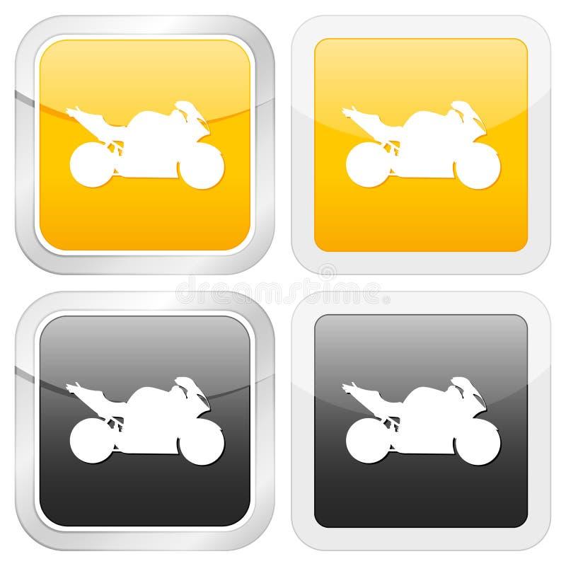 квадрат мотоцикла иконы иллюстрация штока