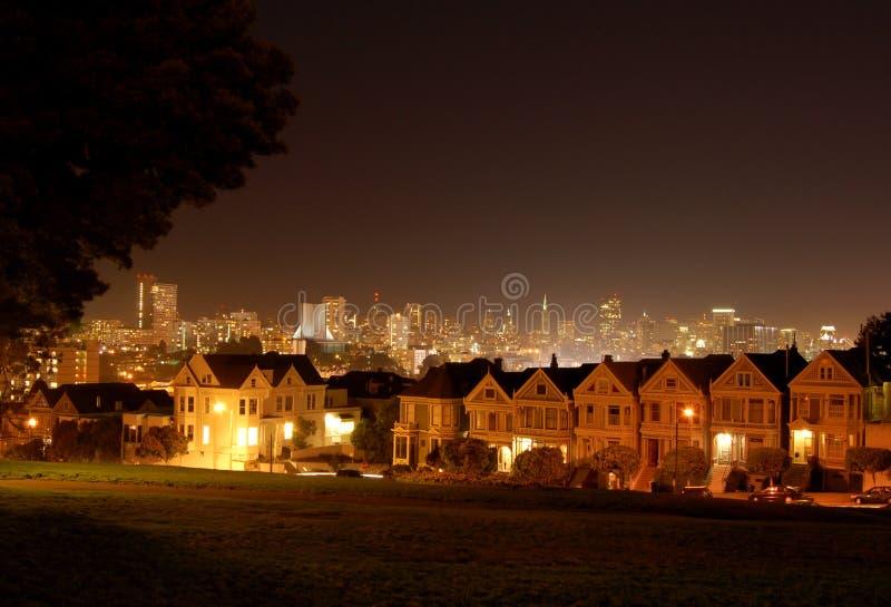 квадрат ночи alamo стоковое фото