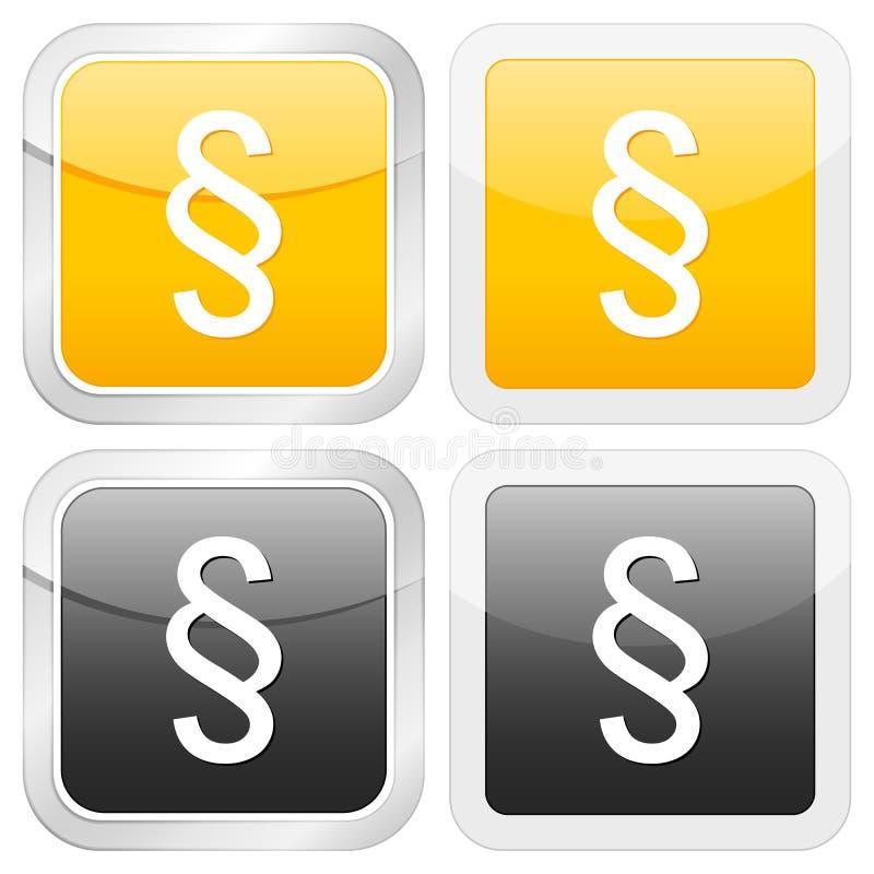 квадрат параграфа иконы иллюстрация штока