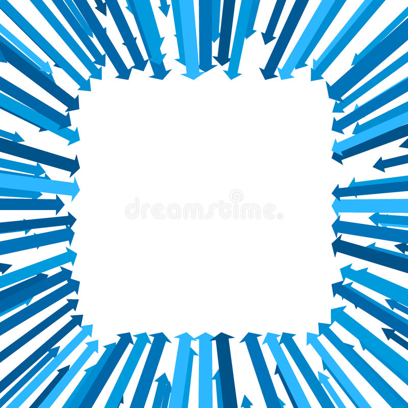 квадрат предпосылки стрелки иллюстрация вектора