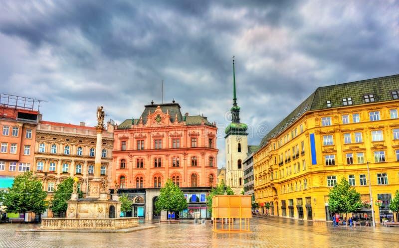 Квадрат свободы, главная площадь Брна в чехии стоковая фотография rf