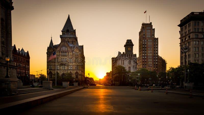 Квадрат Сиракуз Нью-Йорк Клинтона стоковая фотография