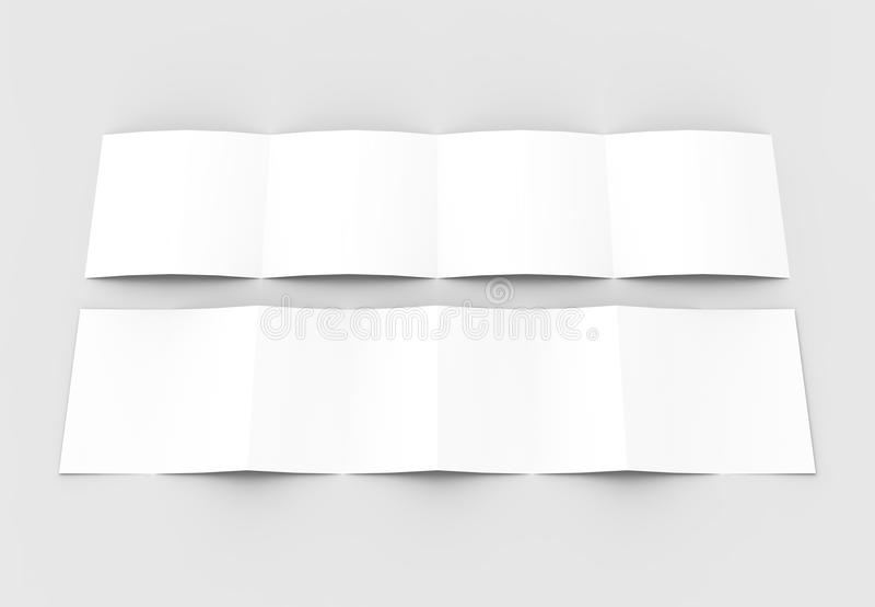 Квадрат 4 сложил - четырехкратный - модель-макет брошюры изолированный на нежности бесплатная иллюстрация