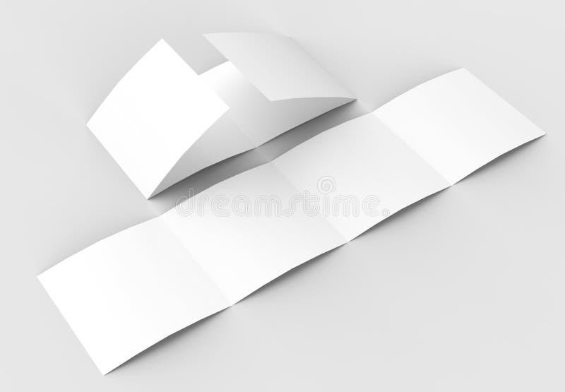 Квадрат 4 сложил - четырехкратный - модель-макет брошюры на нежности иллюстрация вектора