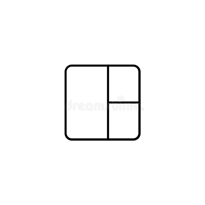 Квадрат со значком круглых углов бесплатная иллюстрация