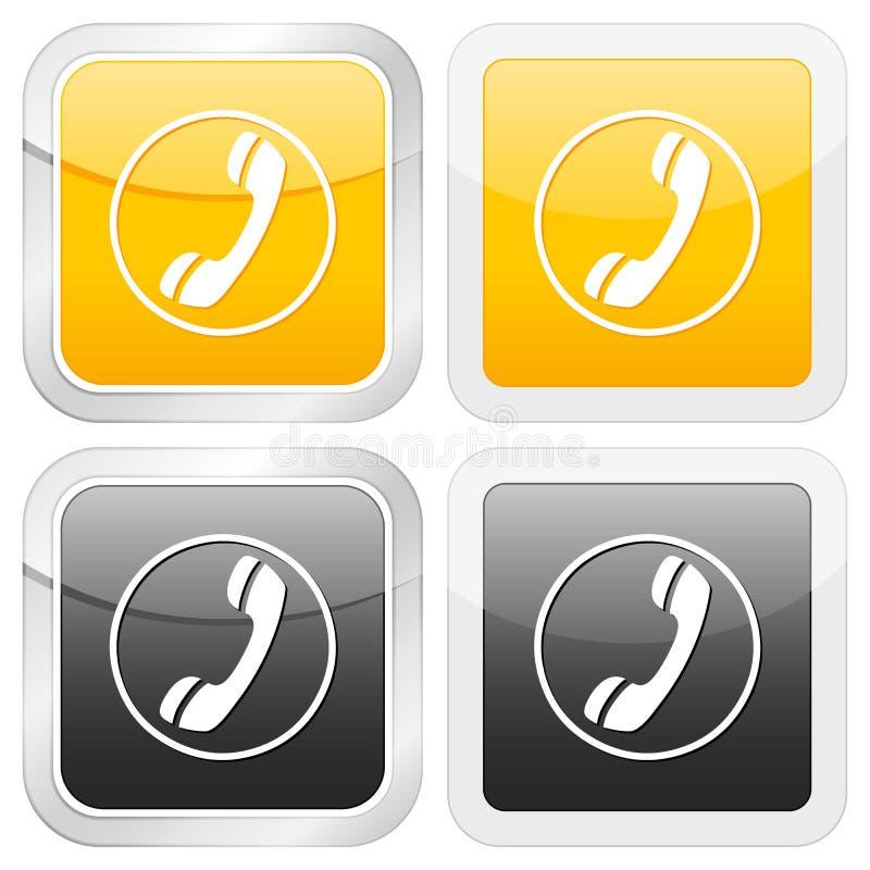 квадрат телефона иконы иллюстрация штока