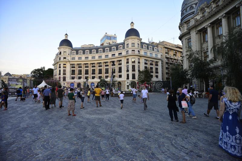 Квадрат университета в Бухаресте стоковое изображение