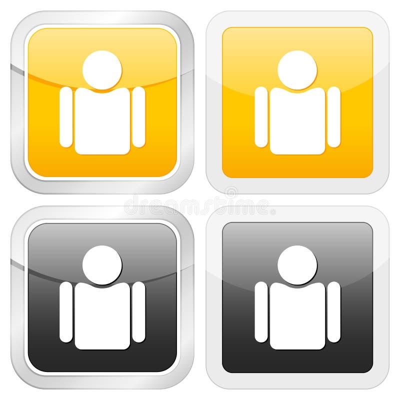 квадрат человека иконы бесплатная иллюстрация