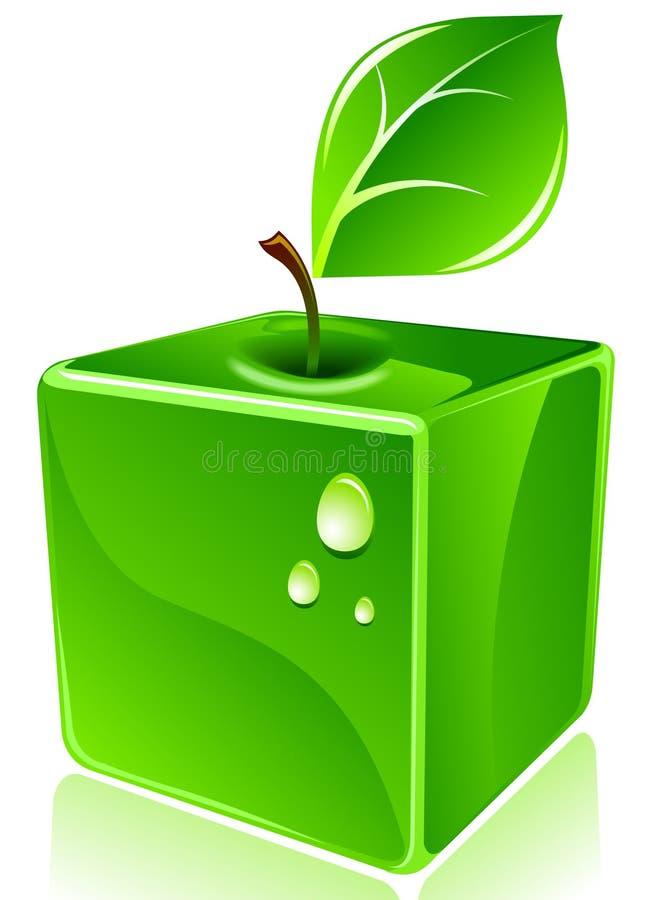 квадрат яблока иллюстрация вектора