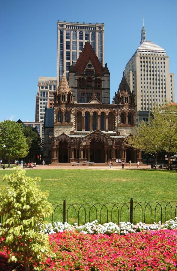 квадрат copley boston стоковое изображение rf