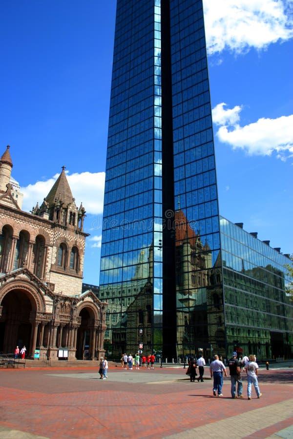 квадрат copley boston стоковые изображения rf