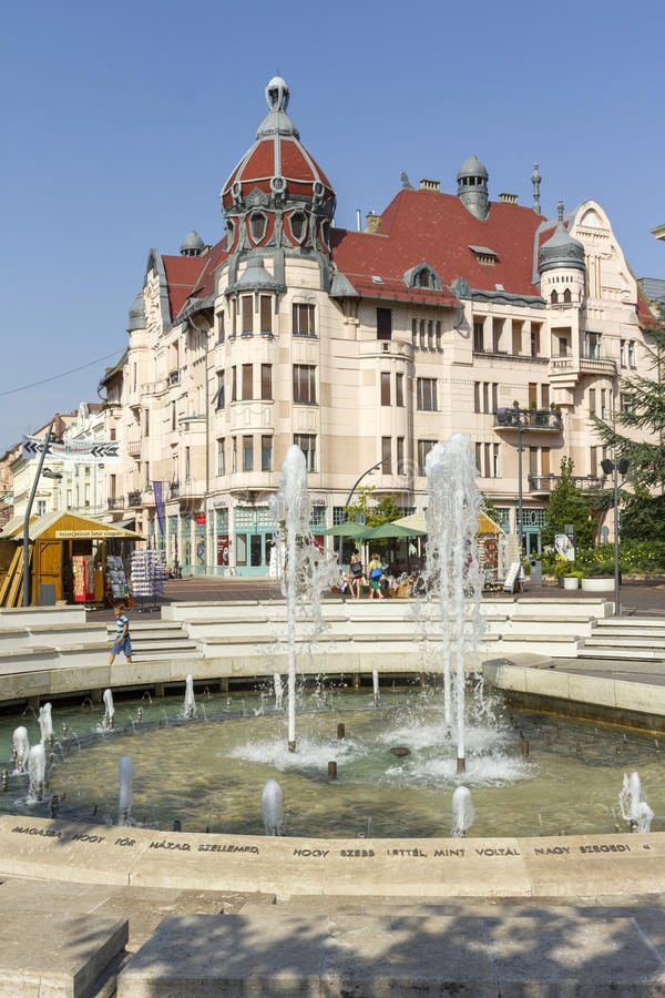Квадрат Dugonics в Szeged стоковая фотография