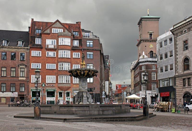 Квадрат Gammeltorv (Stroget), Копенгаген стоковые изображения