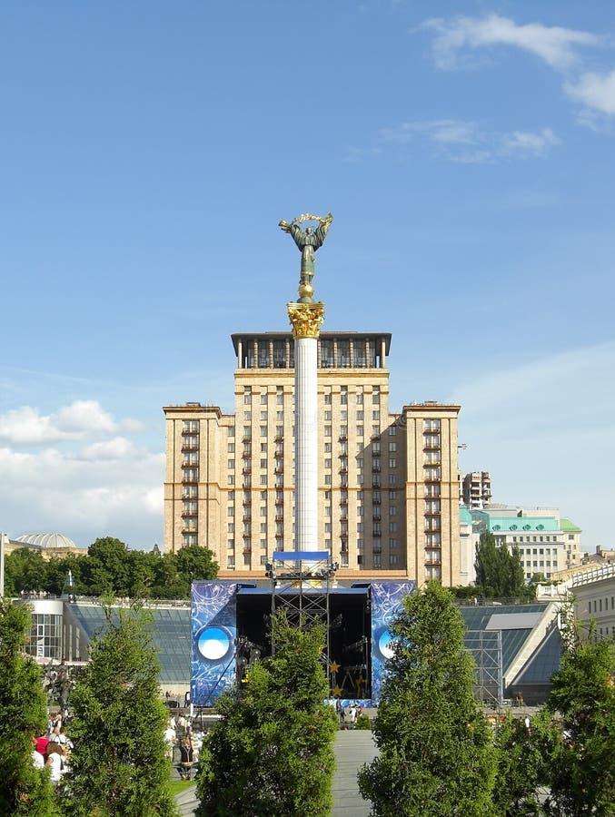 квадрат kiev независимости стоковая фотография rf