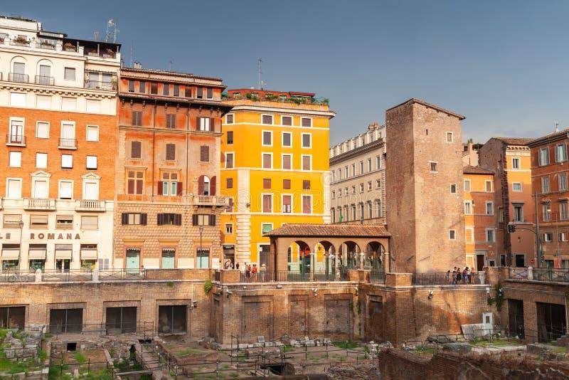 Квадрат Largo di Torre Аргентины, Рим стоковое изображение