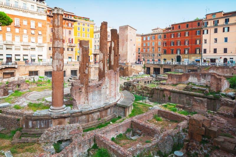 Квадрат Largo di Torre Аргентины, Рим стоковая фотография rf