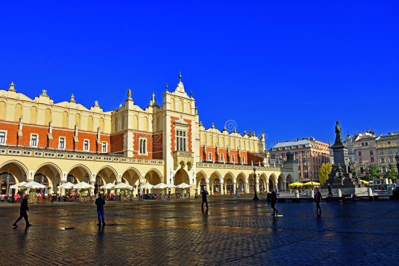 квадрат marcet krakow стоковое изображение