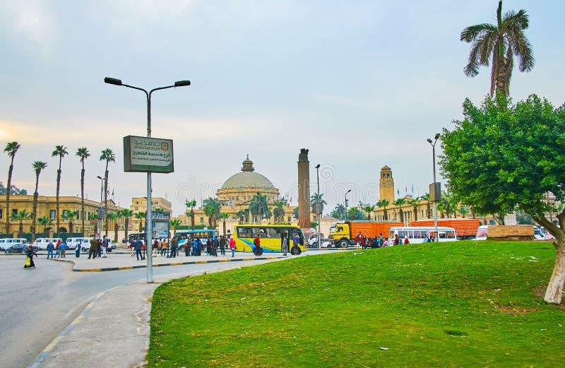 Квадрат Nahdet Masr, Гиза, Египет стоковая фотография