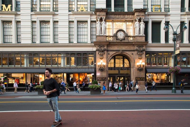 Квадрат NYC глашатого ` s Macy стоковые фотографии rf