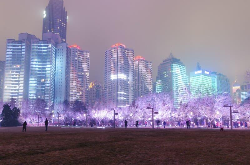 Квадрат Qingdao характерный культурный стоковая фотография rf