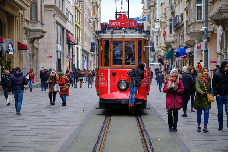 Квадрат Taksim к Galata стоковое фото