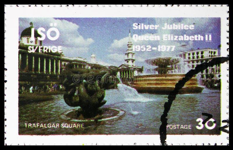 Квадрат Trafalgar, serie, около 1977 стоковое изображение rf