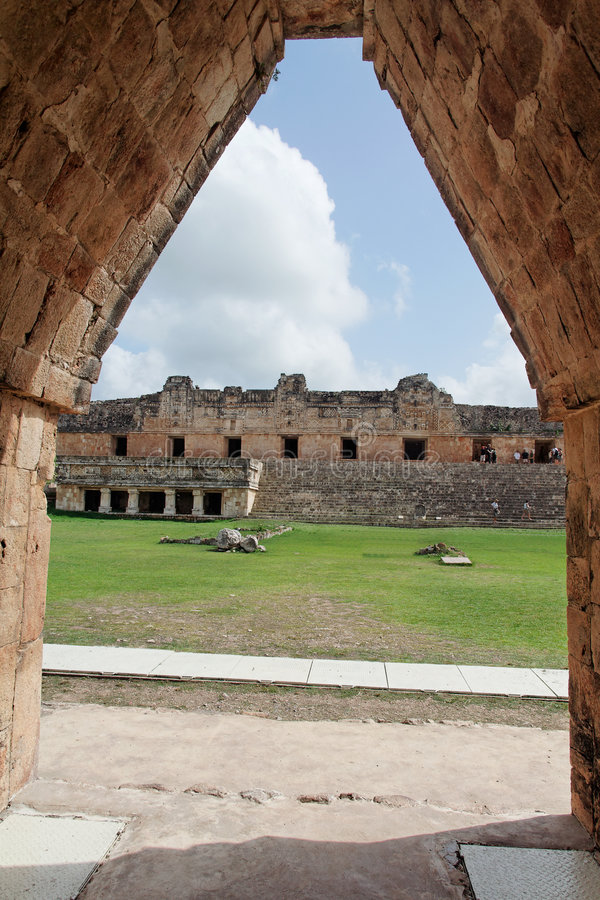 квадрат Uxmal Yucatan Nunnery Мексики Стоковое фото RF