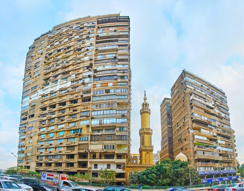 Кварталы прожития Гизы, Египта стоковое изображение