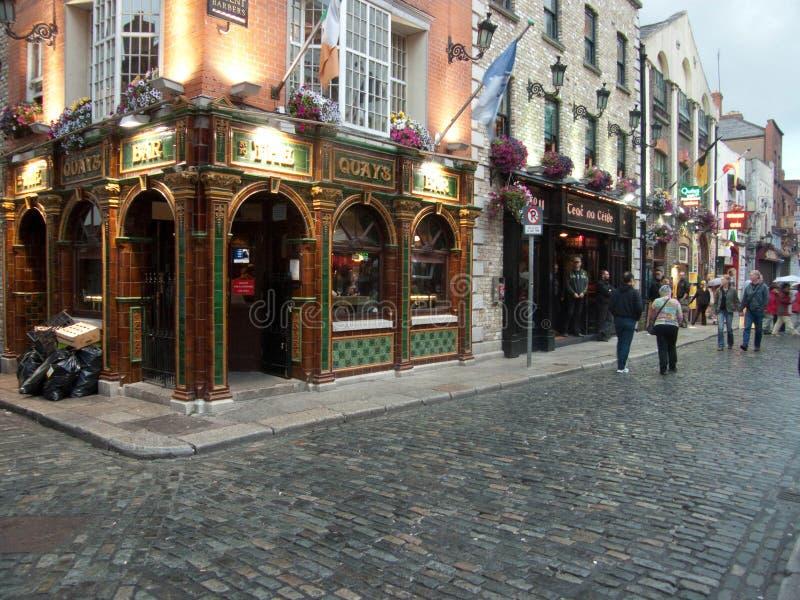 Квартал бара виска в Дублине стоковые фотографии rf