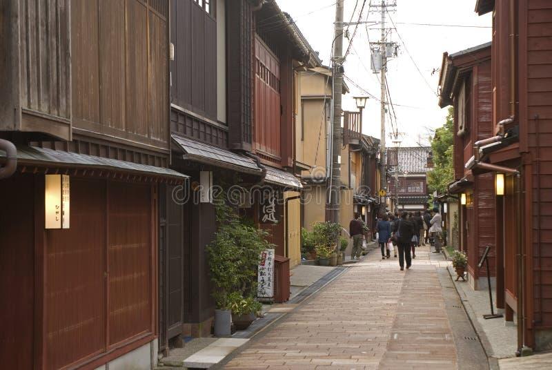 Квартал гейши, Kanazawa, Япония стоковая фотография